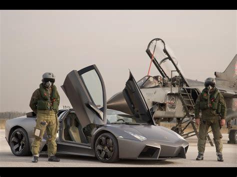 2008 Lamborghini Reventon Vs Tornado Jet Fighter Front