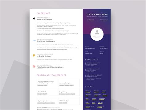 Resume Ppt by Ppt Resume Template Free Resumekraft
