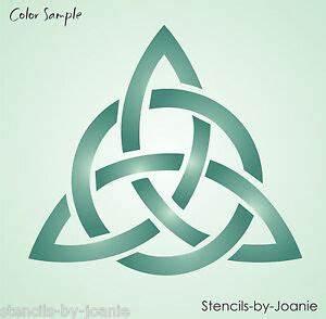 Stencil Celtic Trinity Heart Knot Triangle Design Triple ...