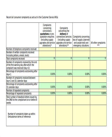 Customer Complaint Book Template Uk customer log template free premium templates