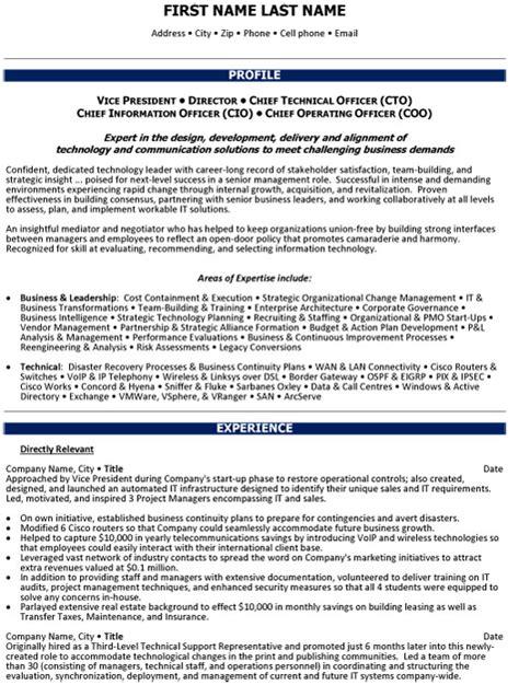top executive resume templates samples