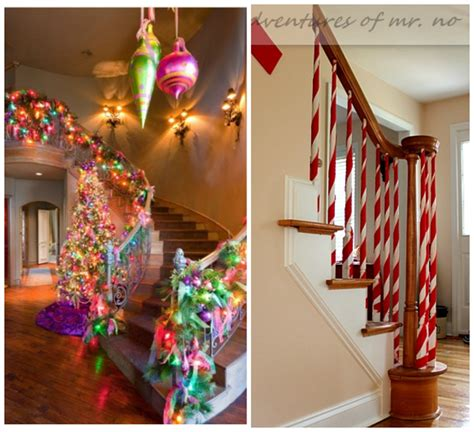 fun ways  decorate stairs  christmas crafty morning