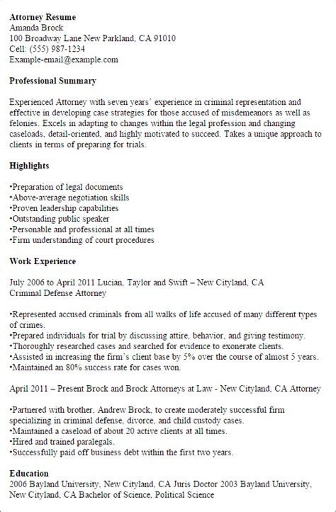 Attorney Resume Template by Resume Templates To Impress Any Employer Livecareer