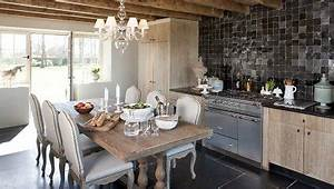 deco cuisine style campagne With deco campagne chic cuisine