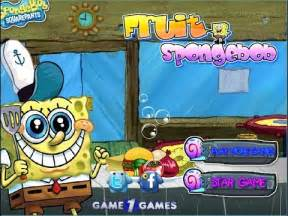 spongebob games  play   fruit spongebob game
