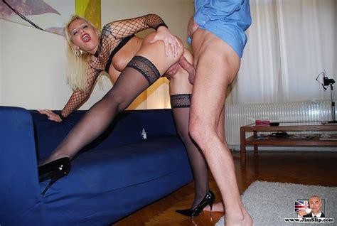 Stocking Porn Busty British Slut Gets Anal Xxx Dessert