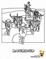Coloring Cowboy Cowboys Yescoloring Em Ride Boys sketch template