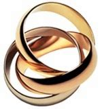 tri color russian wedding ring tri color rolling ring trinity ring russian wedding ring band