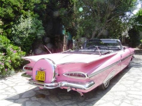 Pink Convertible Car For Sale by Pink 1959 Chevrolet Impala Convertible Cars