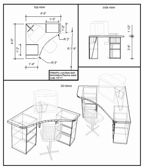 free blueprint plan drawings for furniture