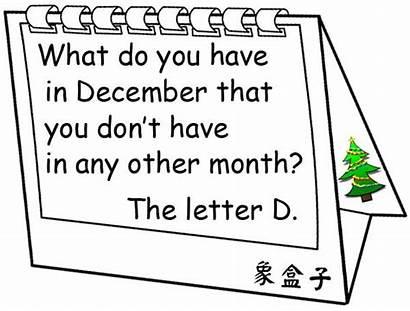 December Joke Riddle