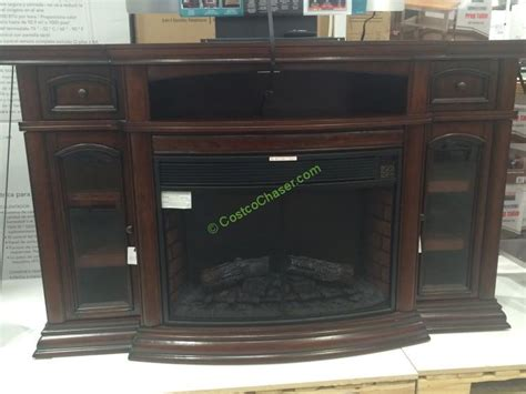 sinclair   bluetooth media electric fireplace tv stand