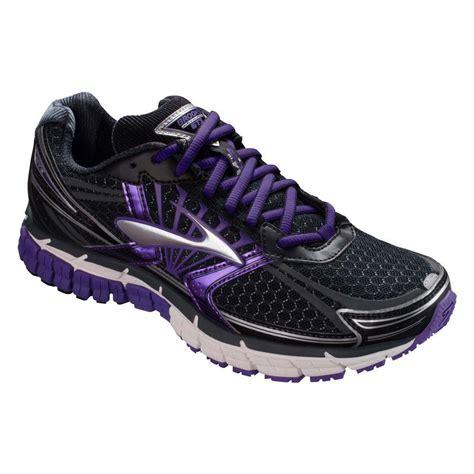 brooks womens adrenaline gts  running shoes blackpurple tennisnutscom