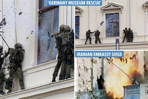 Dramatic Moment German Sas Troops 'storm Embassy To Free