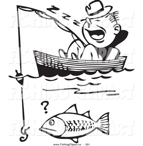 Fishing Boat Clipart Black And White by Fishing In Boat Black And Whiter Clipart