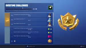 fortnite overtime challenges guide   complete