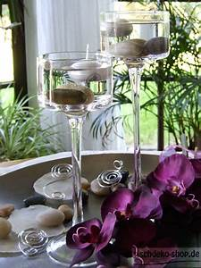 Tischdeko Shop De : glas kerzenleuchter in pokalform 9cm bei tischdeko ~ Watch28wear.com Haus und Dekorationen