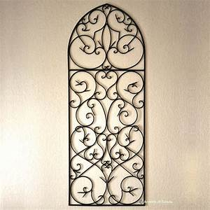 gothic style wrought iron piece for above the fireplace With wrought iron wall decor ideas
