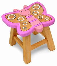 children s stools Childrens Wooden Stool Solid Pine Character Seat Step in ...