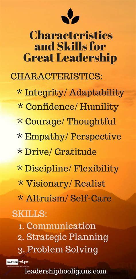 leader leadership characteristics