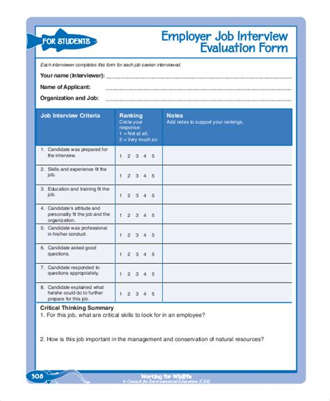 employee review form pdf employee evaluation form exle 13 free word pdf