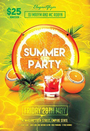 summer party  flyer psd template  elegantflyer