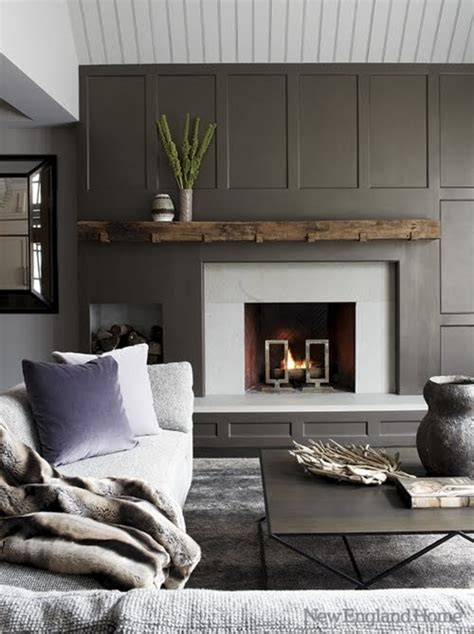 amazing gray paneled walls content in a cottage