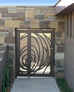 Metallgartentore 30 Ideen Fenster Tren Garten