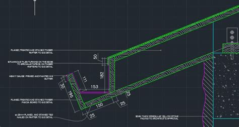typical gutter detail cad files dwg files plans