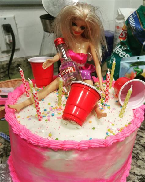This Cake Tho Cake Barbie Drunk Happybirthday