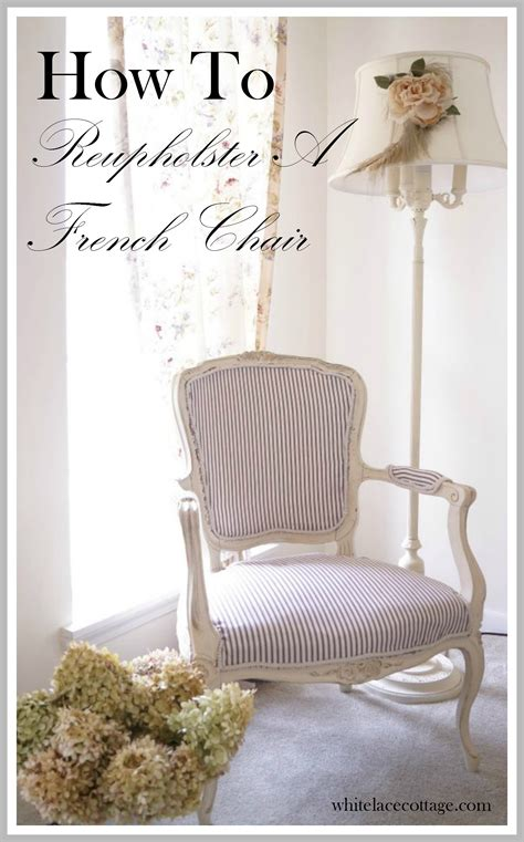 how to easily reupholster a chair white lace cottage