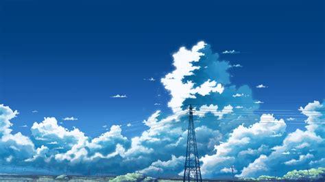 Anime Sky Wallpaper - 1920x1080 anime sky anime landscape clouds