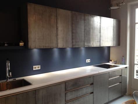 cuisine bois et metal peinture métal enduit effet métal véritable à 95 fer