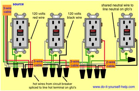 Wiring Gfci Outlet In Series by Wiring Diagram Ground Fault Circuit Interrupters