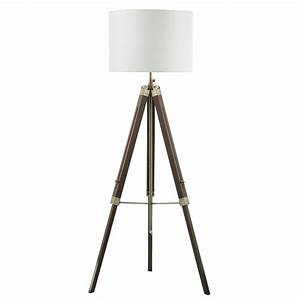 easel tripod floor lamp dark wood base only With floor lamp with easel