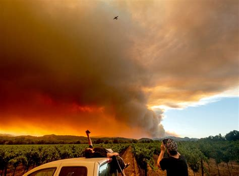 Glass fire as seen by firefighterscalifornia wildfires president visits fire stricken area but blames forest management for the fires, saying it will start getting cooler. Epic scale of California wildfires continues to grow fire ...
