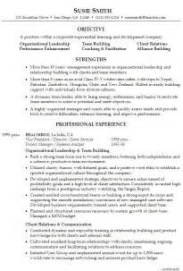organizational change management resume exles resume for executive management supervision susan ireland resumes