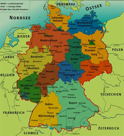 map  germany  cities deutsch bitte pinterest