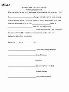 proxy voting form template 28 images proxy vote With proxy vote form template