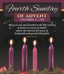 Week 4 Advent Reading : december 23rd 2018 4th sunday of advent st clare parish ~ Haus.voiturepedia.club Haus und Dekorationen
