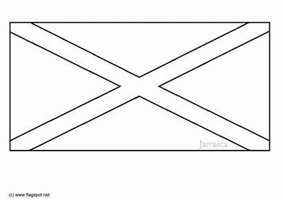 Flag Coloring Pages Jamaica Printable Sheets Colors