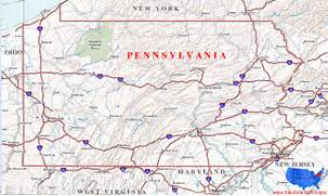 Driving Map Of Pa Aufeus - Road map of pennsylvania