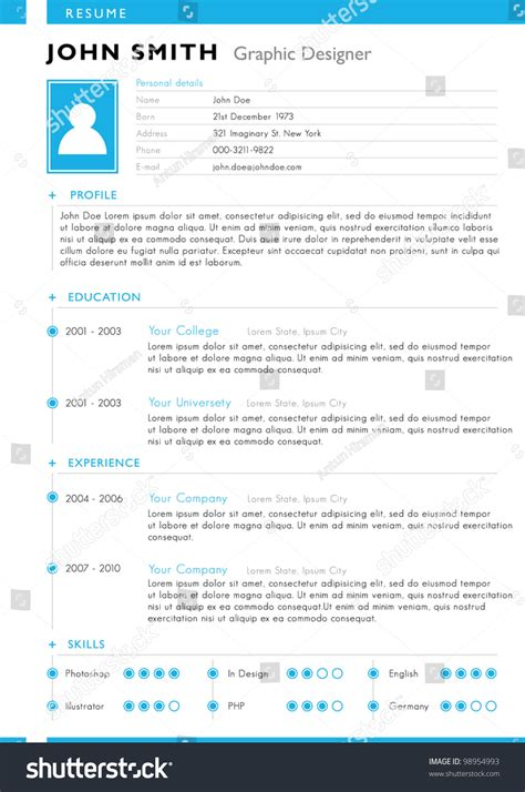 resume template vector 98954993