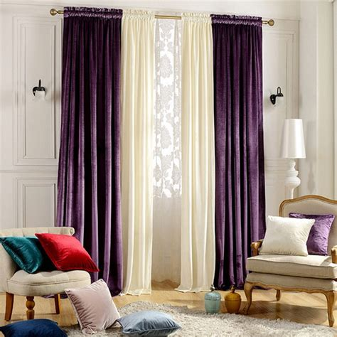 home window decoration wedding purple velvet curtains