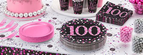 pink celebration  birthday party supplies delights