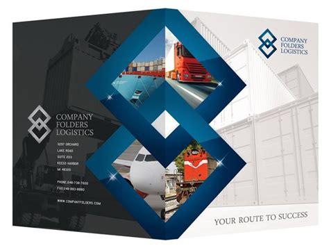 corporate folder design template psd blue diamond logistics
