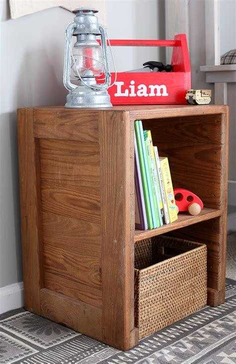 free plans diy rustic nightstand