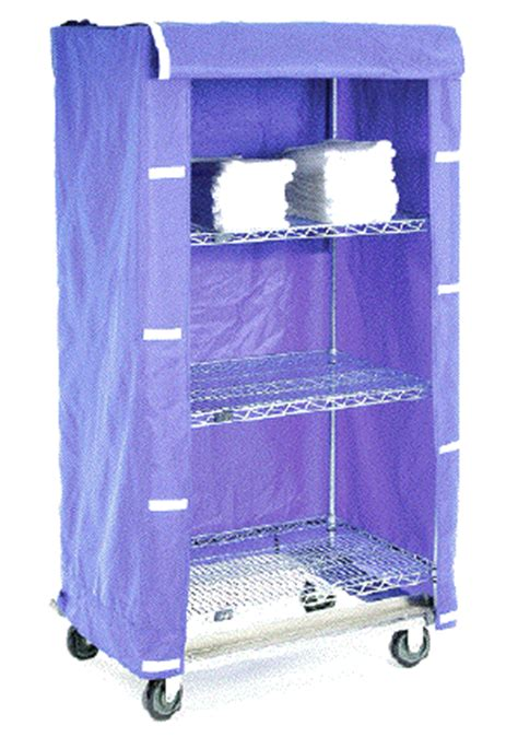 cart shelving covers  colored nylon  clear vinyl
