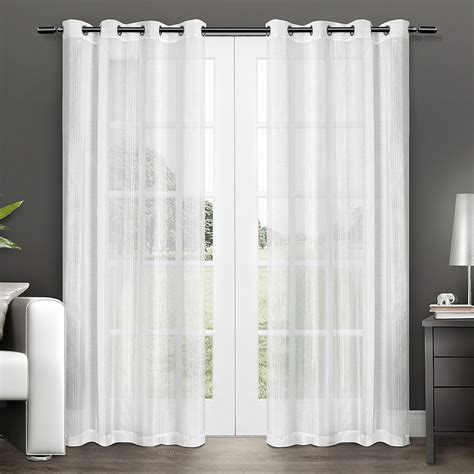 Miller Home Window Curtains by Sheer Curtain Panels Ease Bedding With Style