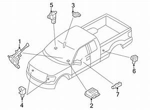 2013 Ford F-150 Air Bag Control Module  Sensors  Cab  Modules